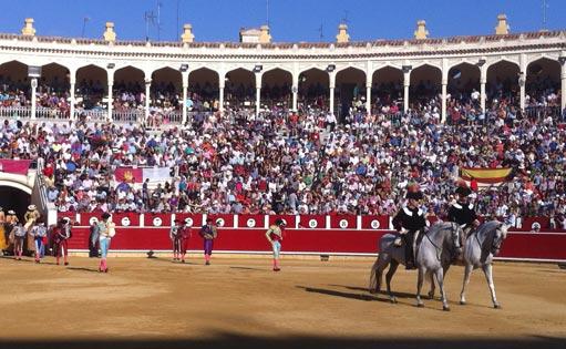 Imagen interior de un paseíllo en la plaza de toros de Albacete