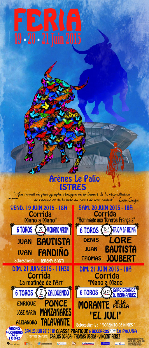Cartel taurino Istres 2015