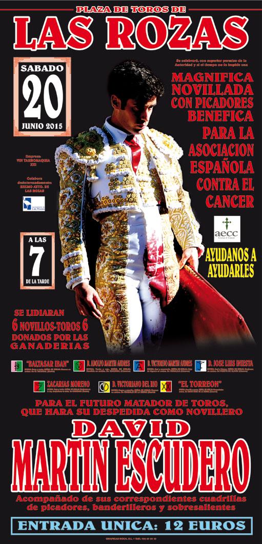 Cartel taurino corrida día 20 junio de 2015