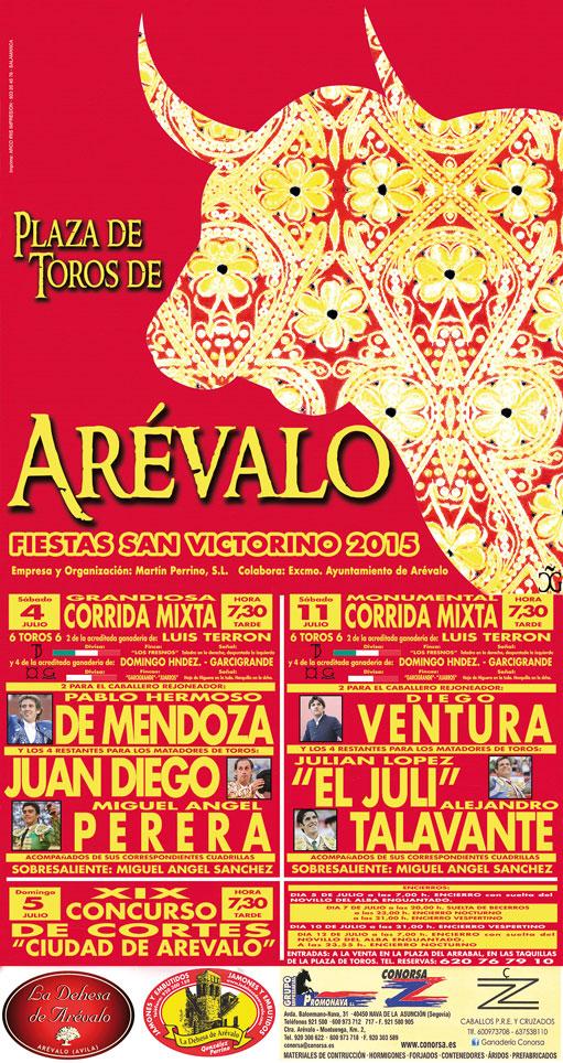 Cartel toros Arévalo 2015