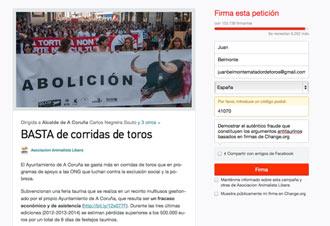 NOTICIA Belmonte firmó por la supresión en Coruña