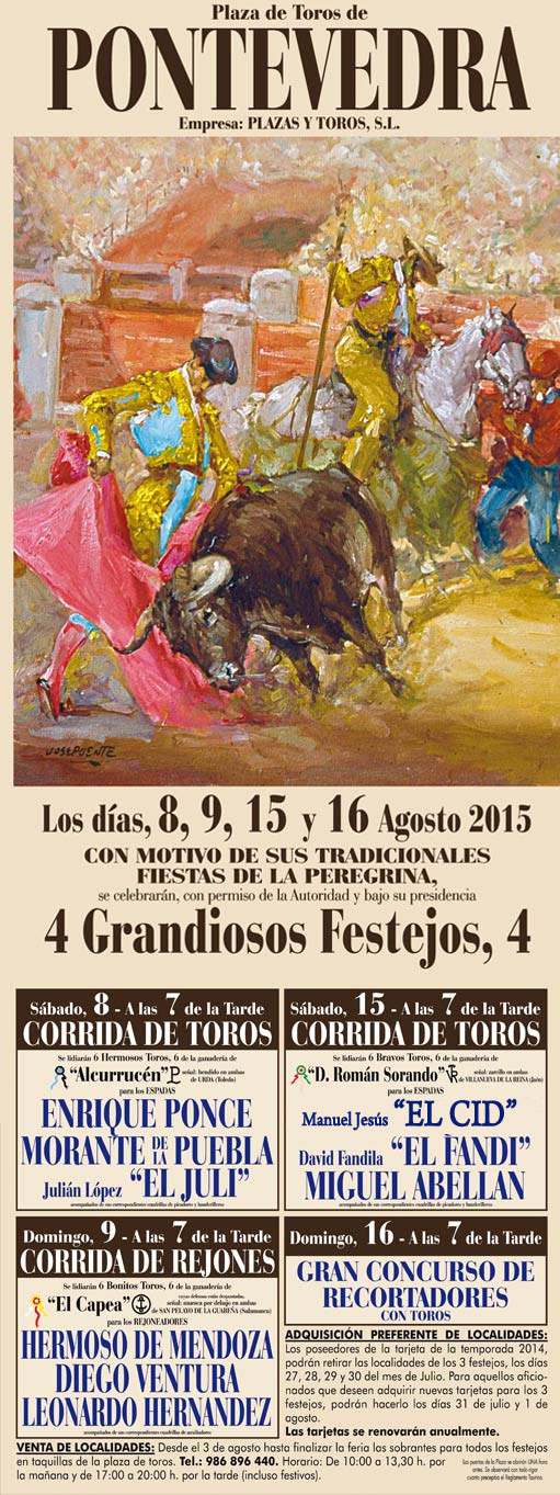 Toros en Pontevedra