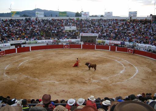 Interior de la plaza de toros de Duitama en Colombia