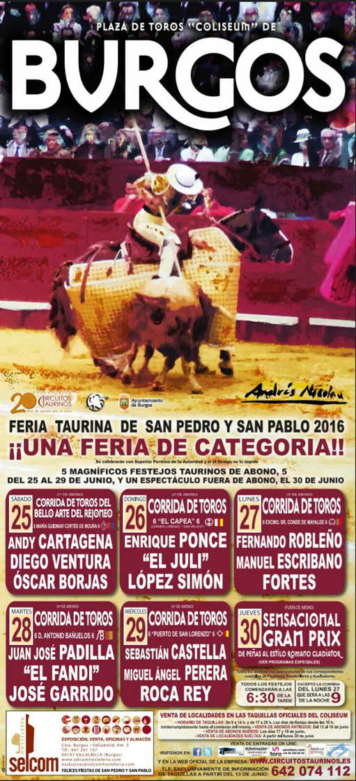 Toros en  Burgos 2016