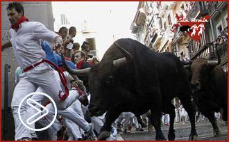 PAMPLONA Corren los toros de Miura