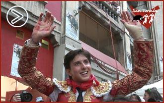 CRÓNICA Del triunfo de Puerta Grande de Roca Rey en la tercera de San Fermín