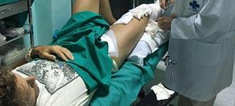 HERIDOS Este lunes, en un hospital de Sevilla