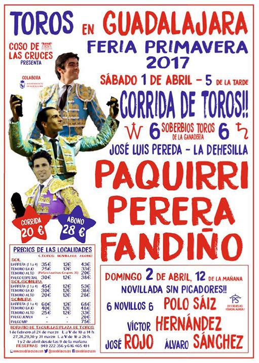 Cartel toros de Guadalajara 2017