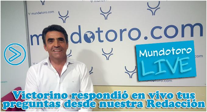 MUNDOTOROLIVE Con Victorino Martín