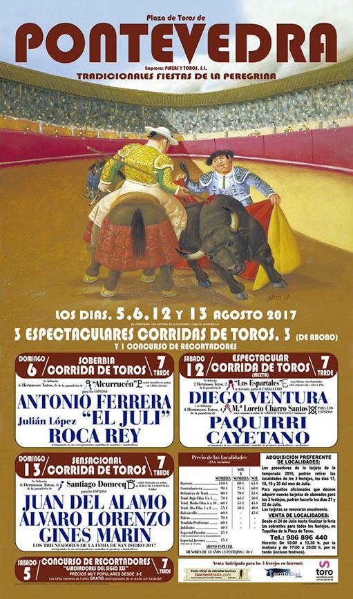 Cartel toros Pontevedra 2017