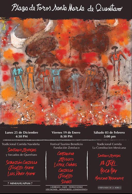 cartel de la feria de Santa María de Querétaro 2017 - 2018