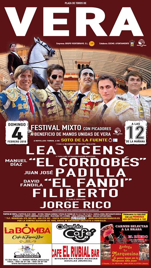 Festival taurino en Vera 2018