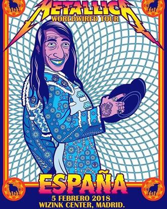NOTICIAS En el cartel de su concierto en Madrid