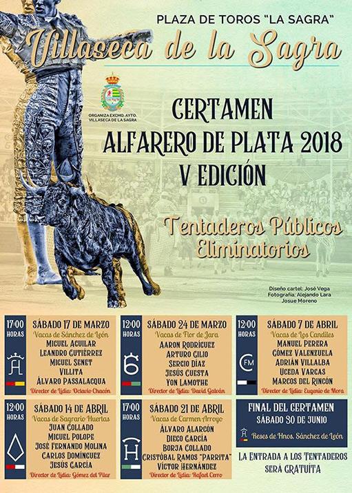 cartel del certamen alfarero de plata 2018 V edición