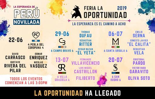 CARTELES En el coso 'La Esperanza', en Lima