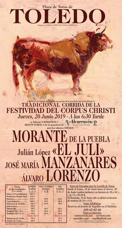Plaza de toros Toledo feria del Corpus 2019