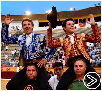 BADAJOZ Pablo y Guillermo, en hombros