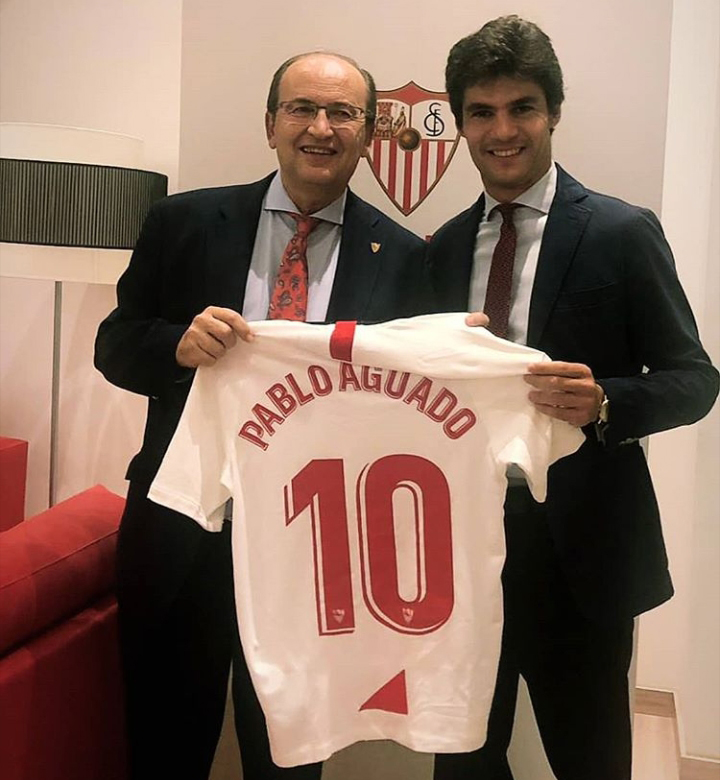 HOMENAJE Aguado es seguidor del equipo andaluz