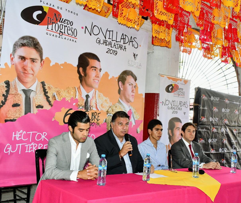GUADALAJARA Una terna de novilleros mexicanos