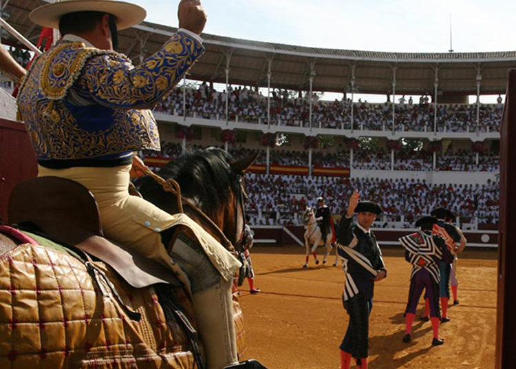 Paseíllo plaza de toros de Dax