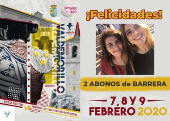 Concurso Mundotoro 2 abonos de barrera Feria San Blas
