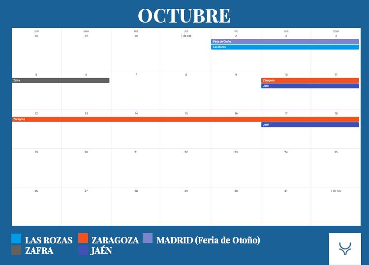 Calendario Taurino - Octubre 2020