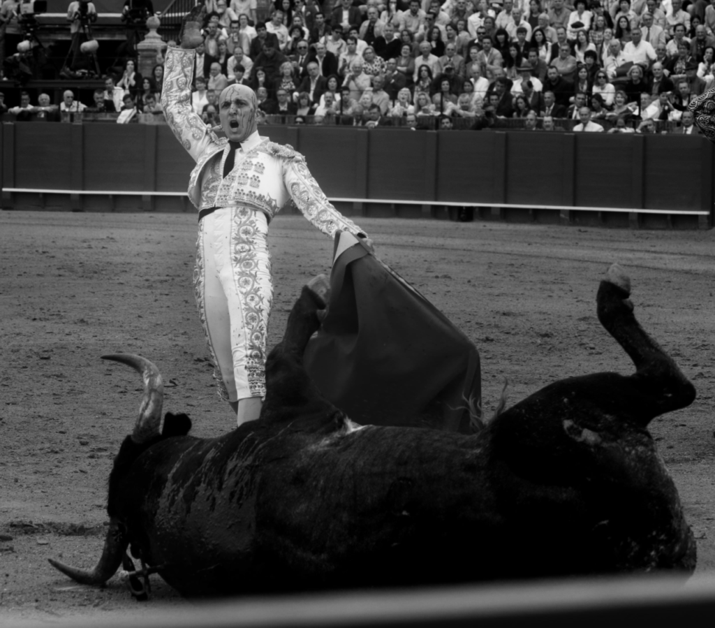Castaño y la muerte de un toro de Miura