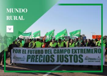 Mundo Rural, agricultores extremeños manifestación