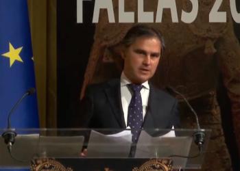 Nacho Lloret en la presentación de los carteles de la Feria de Fallas