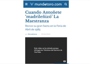 Pantallazo, Youtube, Antoñete, Sevilla, Feria de Abril