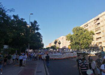 La manifestación taurina de Córdoba reúne a más de 2.000 personas en la calle