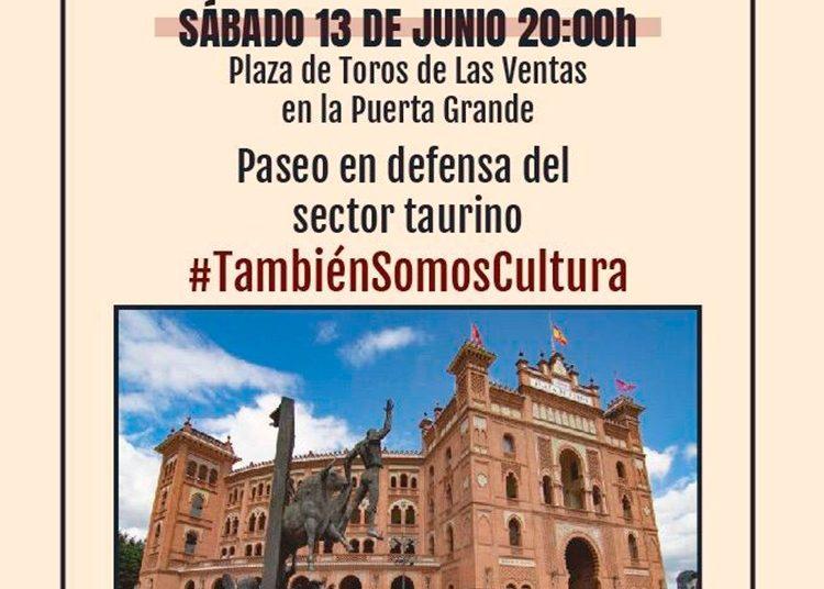 Madrid, cartel, paseo reivindicativo, Las Ventas
