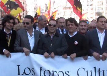 Manifestación Valencia, 2016, Tauromaquia