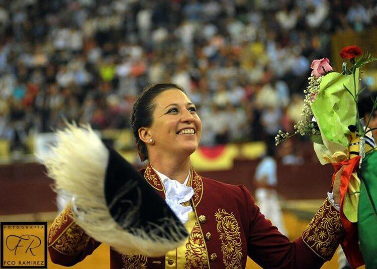 Ana Rita entra en la corrida de rejones de Estremoz