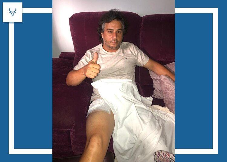José Chacón, fractura de dos costillas y del basto externo del cuádriceps derecho