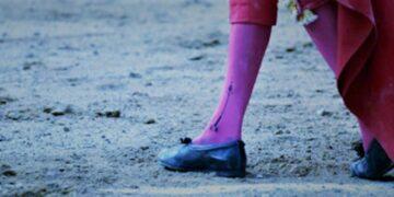 Detalle, pies torero, ruedo, recurso