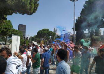 Manifestación en La Castellana
