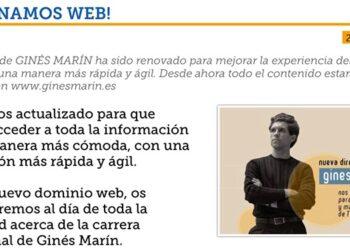Ginés Marín, página web