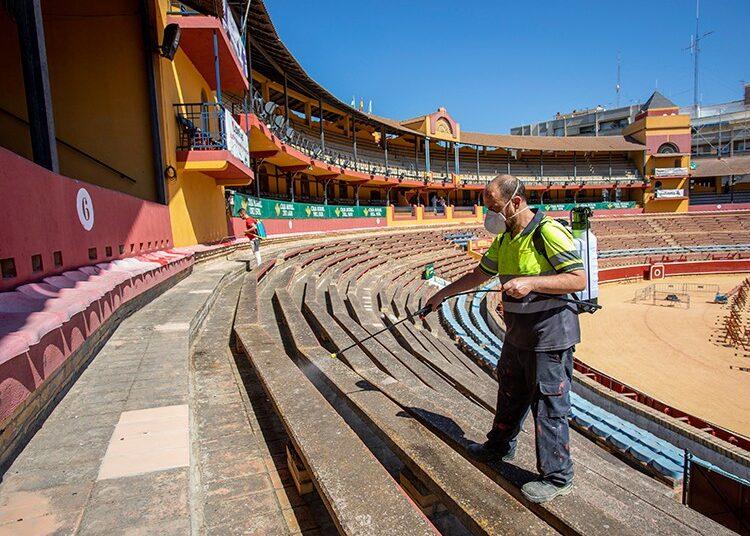 Huelva, La Merced, Feria de las Colombinas, desinfección, protocolo de contingencia