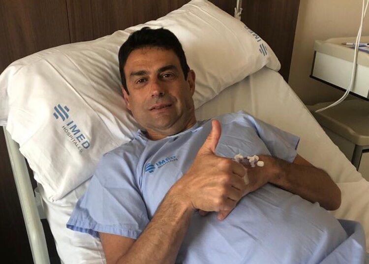 Luis Blázquez, intervenido de la espalda