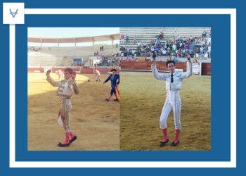 Dos orejas por coleta para Manuel Osuna y Joselito Sánchez, en la primera novillada con público