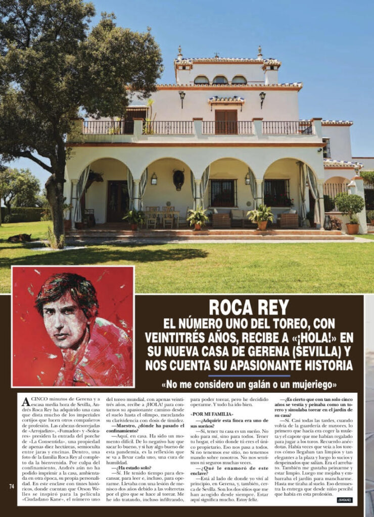 Roca Rey, revista HOLA