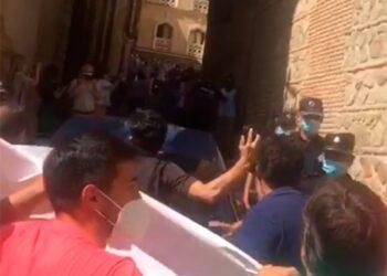 Manifestación, sector taurino, Toledo, Yolanda Díaz