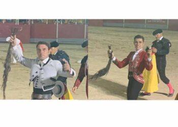 Cuatro orejas y un rabo para Andy Cartagena y Guillermo Hermoso de Mendoza en Talayuela