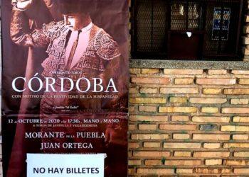 Córdoba cuelga en 24 horas el 'No hay billetes' para la Corrida de la Hispanidad del 12 de octubre