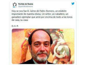 Partido de Resina, redes sociales, Jaime de Pablo Romero