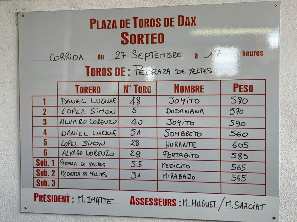 Sorteo Dax