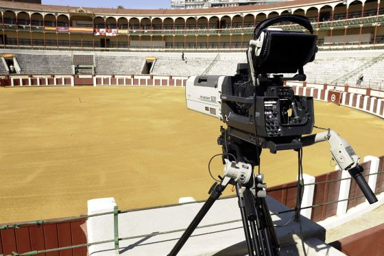 cámaras de televisión, plaza de toros, Valladolid