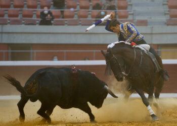 Pablo y Guillermo Hermoso de Mendoza, gran tarde de toreo a caballo en Logroño
