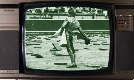 televisión, toros, televisión antigua